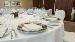 Wedding Table Set Up Beautiful Wedding Table Set Up Dolly Shot Stock Footage Video
