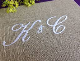 monogram guest book personalised monogrammed guest book by bonbon