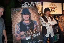 tattoo artist unveils u0027ink not mink u0027 ad peta
