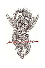 steampunk tattoo design u0027time u0027 by feivelyn on deviantart