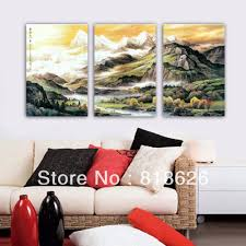 3 piece huge jimmy abstract canvas landscape painting living room