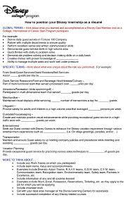 Hostess Description On Resume Resume For Disney Resume For Your Job Application