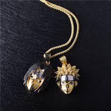 hip hop necklace images 14k gold iced naruto and sasuke set hip hop necklace aporro brand jpg