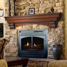 decorations elegant varnished wood mantel decorating ideas with