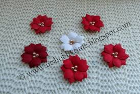 Make Your Own Paper Flowers - uts hobby time christmas card and handmade poinsettia paper