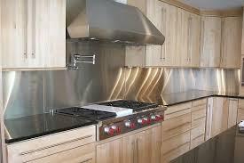 stainless steel kitchen backsplash ideas stainless steel modern kitchen design with kitchen backsplash