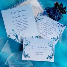 blue wedding invitations the various shades of blue for your blue wedding invitations