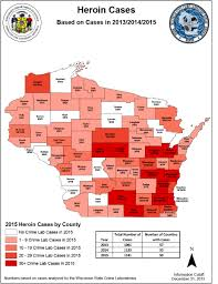 Wisconsin State Map by Cases By County Wisconsin Department Of Justice