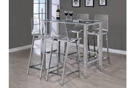 tiffany white modern pub table set
