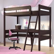 loft bed with desk and trundle wayfair