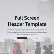 free html bootstrap navigation menu template