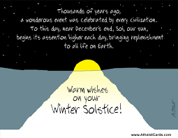 warm wishes on your winter solstice atheist cards