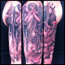 flying dove and on half sleeve tattooshunt com