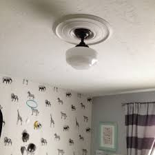 Schoolhouse Ceiling Lights by Schoolhouse Lighting On A Budget At Home With Ashley