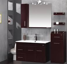 bathroom sink cabinets solid side support gray stained wooden legs