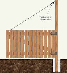 wooden gates doors with wire cable how to make a wood gate