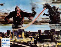 king kong godzilla 1962 lobby card cinema fantastique