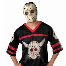 friday the 13th jason hockey jersey with mask costume