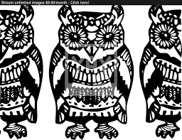 simple hand drawn owl sketch black blue pattern vector yayimages com