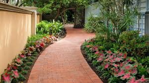 Interior Design With Flowers An English Garden Is Cozy With A Gravel Road Look Paving Stones