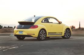 volkswagen yellow 2014 volkswagen beetle gsr first test motor trend