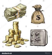 finance money set sketch paper money stock vector 494921986