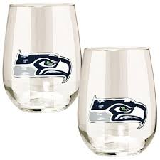 Seattle Seahawks Toaster Officially Licensed Nfl 2 Piece Stemless Wine Glass Set Seattle