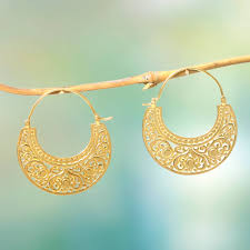 earrings images gold plated earrings from bali and java at novica
