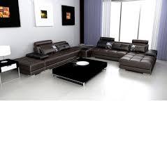 modern contemporary leather sofas dreamfurniture com divani casa 5005 modern contemporary
