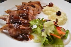 cuisine gordon ramsay gordon ramsay s duck breast with madeira jus tomatillo apple