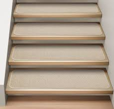 Stair Tread by Ivory Cream Attachable Carpet Stair Treads Set Of 15 Durable