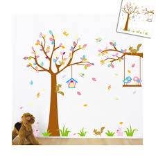 squirrel and swing birds wall sticker