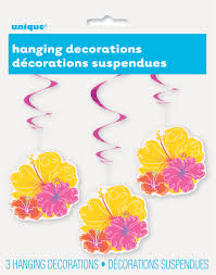 luau decorations 26 hanging hawaiian flower luau decorations 3 count walmart