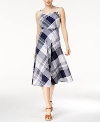 maison jules plaid midi dress created for macy u0027s dresses