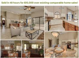 before and after staging client staging tina marie realty group