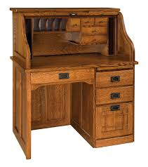 Solid Oak Desk With Hutch by Roll Top Desk