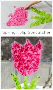 tulip suncatcher spring craft and next comes l