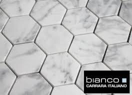 free shipping carrara bianco honed 2 hexagon mosaic tile