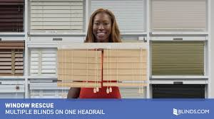 multiple blinds and shades on one headrail window rescue youtube