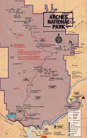 Big Bend National Park Map Arches National Park Map