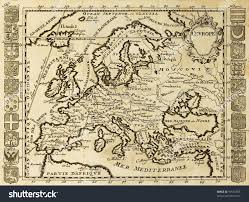 Framed Map Of The World by Map Europe Framed By National Crests Stock Photo 55516555