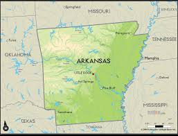 state of arkansas map the state of arkansas