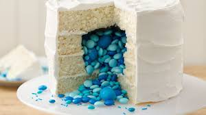 surprise on the inside gender reveal cake recipe bettycrocker com