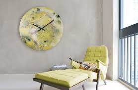 extra large yellow wall clock home decor wall art shop now