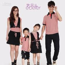 fashion summer family set clothes for and skirt