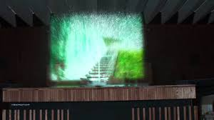 water projection on indoor screen youtube