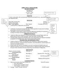 resume examples skills based summer job to inspire you how create