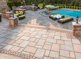 Patio Paver Jointing Sand by Tips Beautiful Backyard And Landscape With Techo Bloc Design