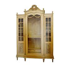 Painted Armoire Furniture Louis Xvi Style Painted Armoire With Glass Door On The Highboy