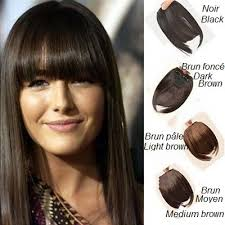 from dark brown to light brown hair clip in hair fringe black dark brown light brown